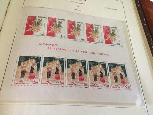 Monaco Europa 1981 SS mnh