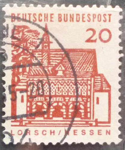 Stamp Germany 1964 German Building Structures of the 12th Century at lorsch 20 Pfn