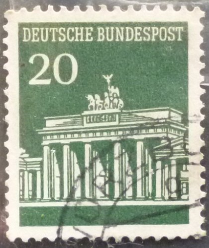 Stamp Germany 1966 Brandenburger Tor 20 Pfg