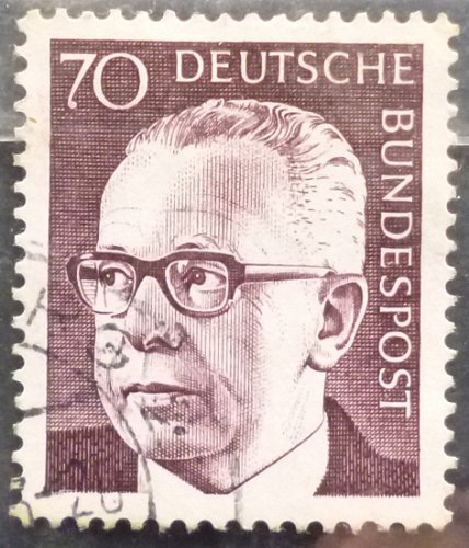 Stamp Germany 1970 Gustav Heinemann 70 Pfg