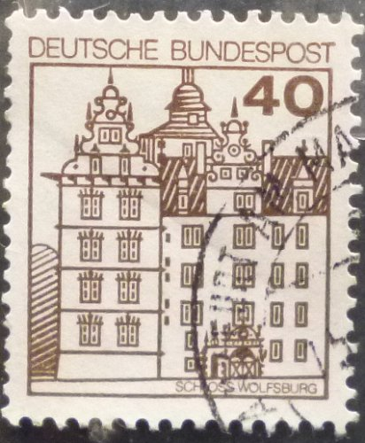 Stamp Germany 1980 Palaces and Castles 40 Pfg Wolfsburg Castle