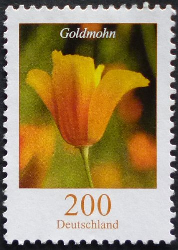 Stamp Germany 2006 Flowers - California Poppy Eschscholzia californica 2.00 Euro