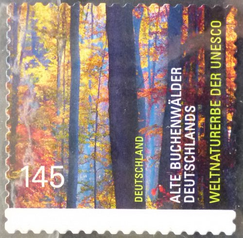Stamp Germany 2014 UNESCO World Heritage - Buchenwald Forrest 1.45 Euro