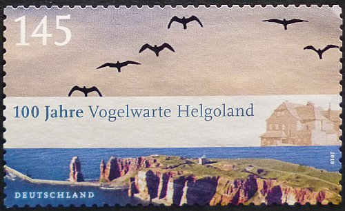 Stamp Germany 2010 The 100th Anniversary of the Helgoland Bird Observatory 1.45 Euro