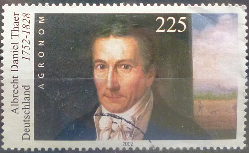 Stamp Germany 2002 250th Birth Anniv. of Albrecht Daniel Thaer 1752-1828 2.25 Euro