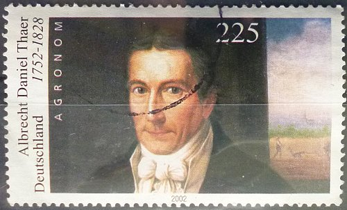 Stamp Germany 2002 250th Birth Anniv. of Albrecht Daniel Thaer 1752-1828 2.25 Euro