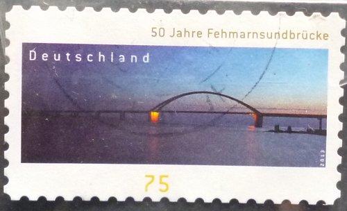 Stamp Germany 2013 2013 The 50th Anniversary of the Fehmarnsund Bridge 0.75 Euro