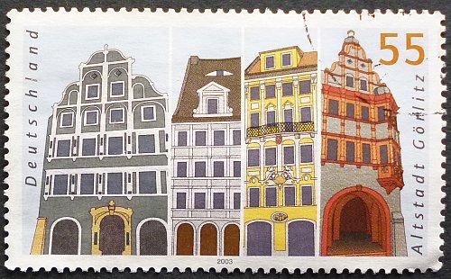 Stamp Germany 2003 Pictures of German cities Gorlitz 0.55 Euro