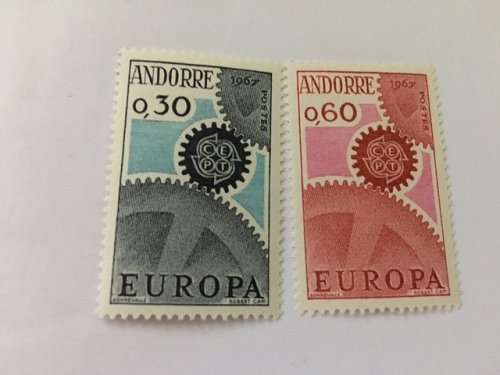 Andorra France Europa 1967 mnh stamps