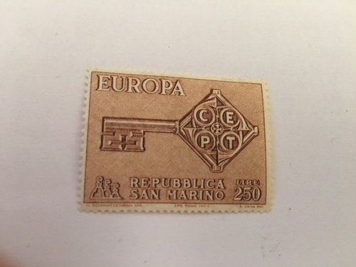 San Marino Europa 1968 mnh