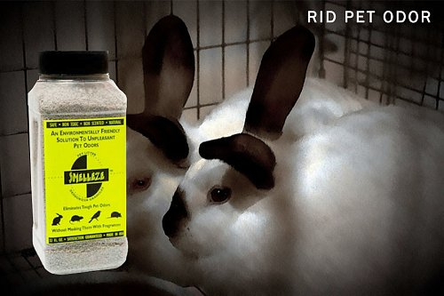 SMELLEZE Pet Litter Odor Eliminator Deodorizer: 2 lb. Granules Remove Dog Smell