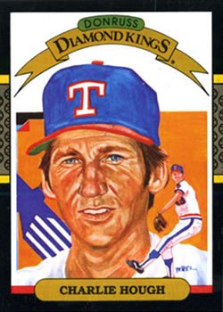 Charlie Hough 1987 Donruss Diamond Kings Baseball Card Texas Rangers
