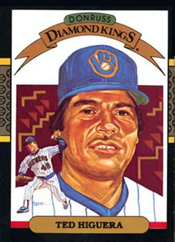 Teddy Higuera 1987 Donruss Diamond Kings Baseball Card Milwaukee Brewers