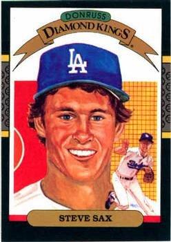 Steve Sax 1987 Donruss Diamond Kings Baseball Card Los Angeles Dodgers