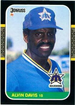 Alvin Davis 1987 Donruss Baseball Card Seattle Mariners