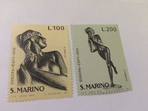 San Marino Europa 1974 mnh