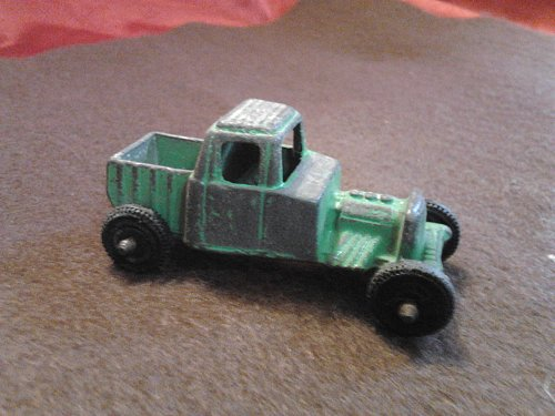Tootsietoy Chicago Die-Cast Custom Pickup Truck Dragster Green Vintage Car Nice Find!