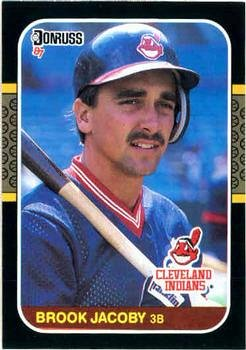 Brook Jacoby 1987 Donruss Baseball Card Cleveland Indians