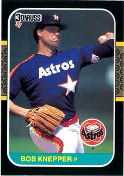 Bob Knepper 1987 Donruss Baseball Card Houston Astros