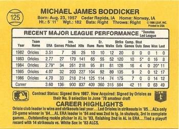 Mike Boddicker 1987 Donruss Baseball Card Baltimore Orioles