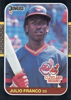 Julio Franco 1987 Donruss Baseball Card Cleveland Indians