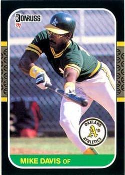 Mike Davis 1987 Donruss Baseball Card Oakland Athletics