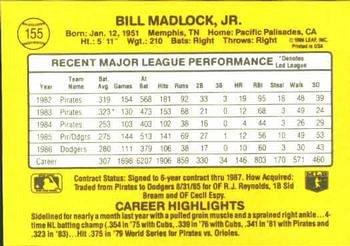 Bill Madlock 1987 Donruss Baseball Card Los Angeles Dodgers
