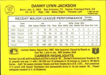 Danny Jackson 1987 Donruss Baseball Card Kansas City Royals