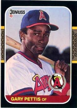 Gary Pettis 1987 Donruss Baseball Card California Angels