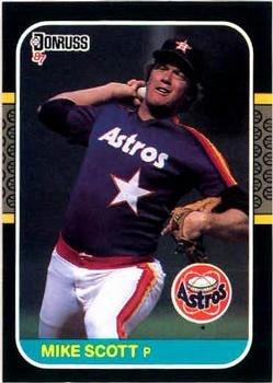 Mike Scott 1987 Donruss Baseball Card Houston Astros