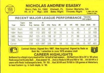 Nick Esasky 1987 Donruss Baseball Card Cincinnati Reds