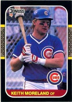 Keith Mooreland 1987 Donruss Baseball Card Chicago Cubs