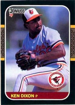 Ken Dixon 1987 Donruss Baseball Card Baltimore Orioles