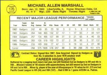 Mike Marshall 1987 Donruss Baseball Card Los Angeles Dodgers