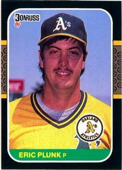 Eric Plunk 1987 Donruss Baseball Card Oakland Athletics