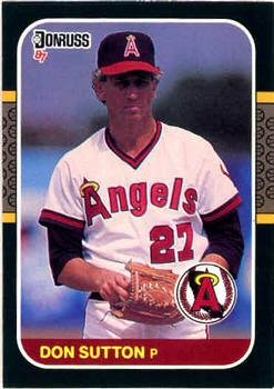 Don Sutton 1987 Donruss Baseball Card California Angels