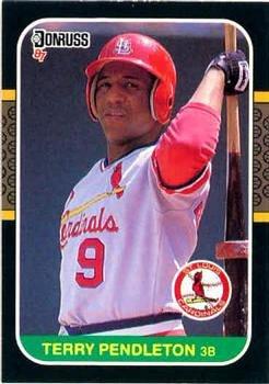 Terry Pendleton 1987 Donruss Baseball Card St. Louis Cardinals