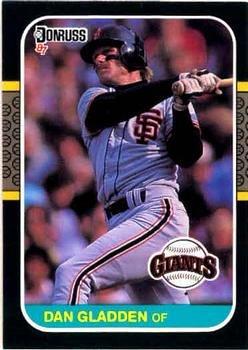 Dan Gladden 1987 Donruss Baseball Card San Francisco Giants