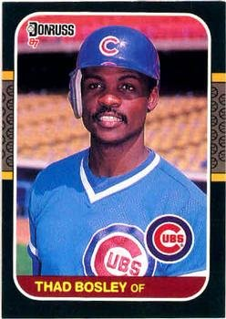 Thad Bosley 1987 Donruss Baseball Card Chicago Cubs