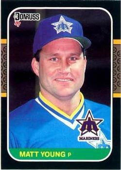 Matt Young 1987 Donruss Baseball Card Seattle Mariners