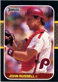 John Russell 1987 Donruss Baseball Card Philadelphia Phillies