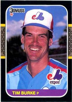Tim Burke 1987 Donruss Baseball Card Montreal Expos