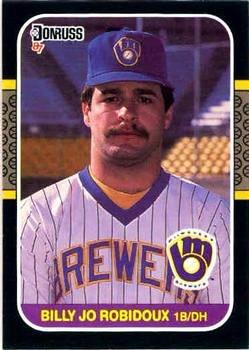 Billy Jo Robidoux 1987 Donruss Baseball Card Milwaukee Brewers