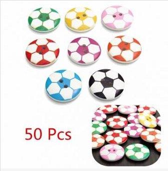 50pcs wooden buttons