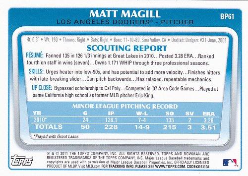 Matt Magill #BP61 - Dodgers 2011 Bowman Baseball Trading Card