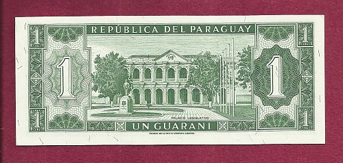 Paraguay 1 Guarani 1952 Banknote A27527847 - Withdrawn from Circulation - UNC