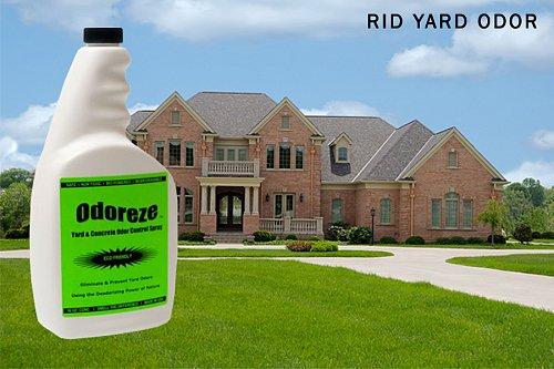 ODOREZE Yard & Concrete Odor Eliminator Spray: Makes 64 Gallons to Clean Smell