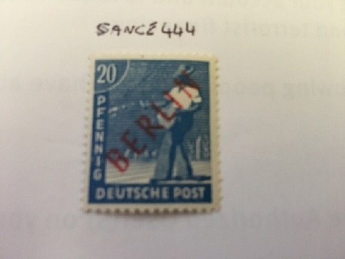 Germany Berlin Red Overp. 20p mnh 1949 #1