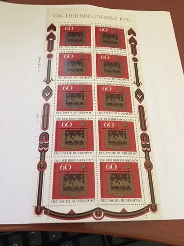 Germany Post House Sign Stamp Day s/s mnh 1979