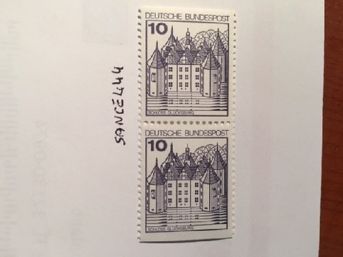 Germany Castle 10p imperf. dual mnh 1977
